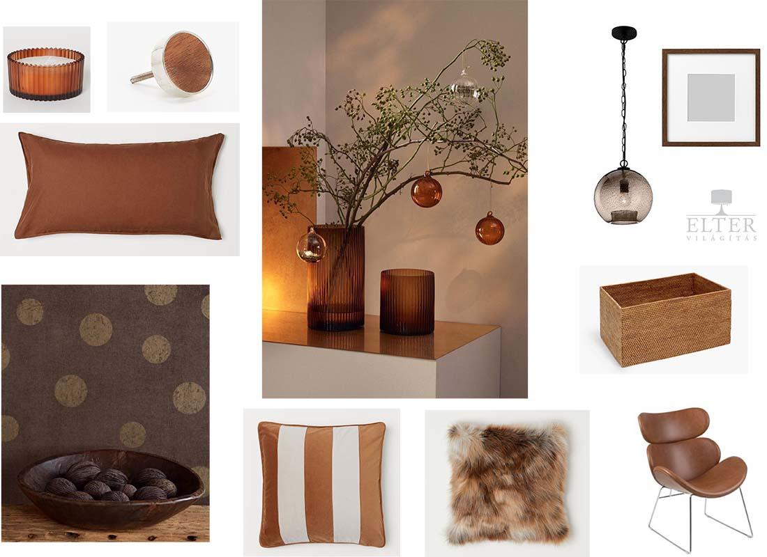 Készítettem egy hangulat kollázst barna és karamell színekre, hogy kedvet kapjatok jó kis kiegészítőkre :-).