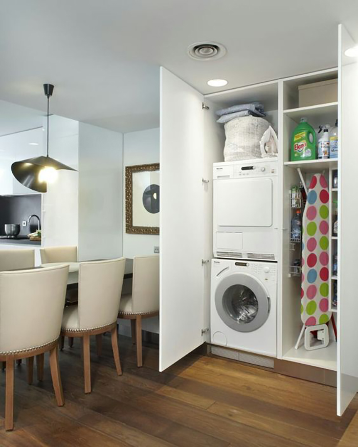 The laundry cabinet I've been working on is very similar to this one.
