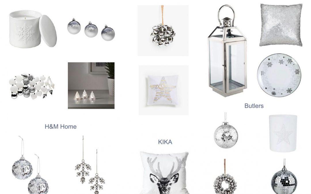 Fehér és ezüst Karácsony