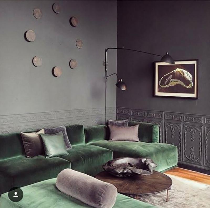 Bársony kanapé