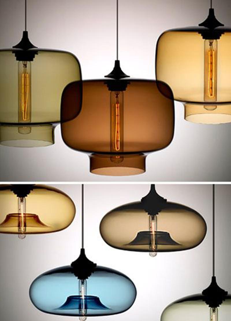 Gyönyörű modern lámpák az ősz színeiben.