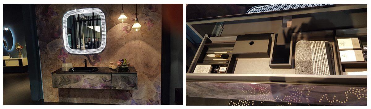 Ez is nagyon különleges, ugyanaz a minta a falon, mint a bútoron, illetve egy kép a fiók belsejéről :-). - Arte Linea