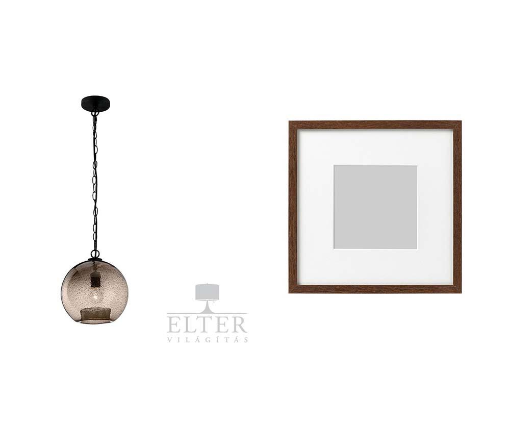 Nova Luce Ancona lámpa az Eltertől és Hovsta képkeret az IKEA-tól.