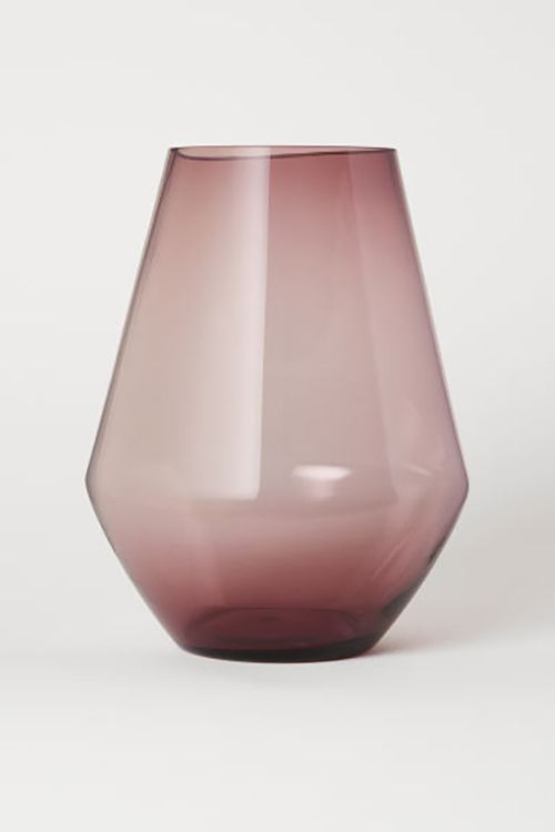 Big sized glass vase from H&M Home.