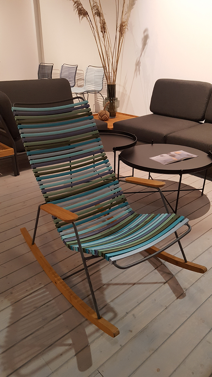 Outdoor rocking chair in lovely colors by Houe Danish Company.