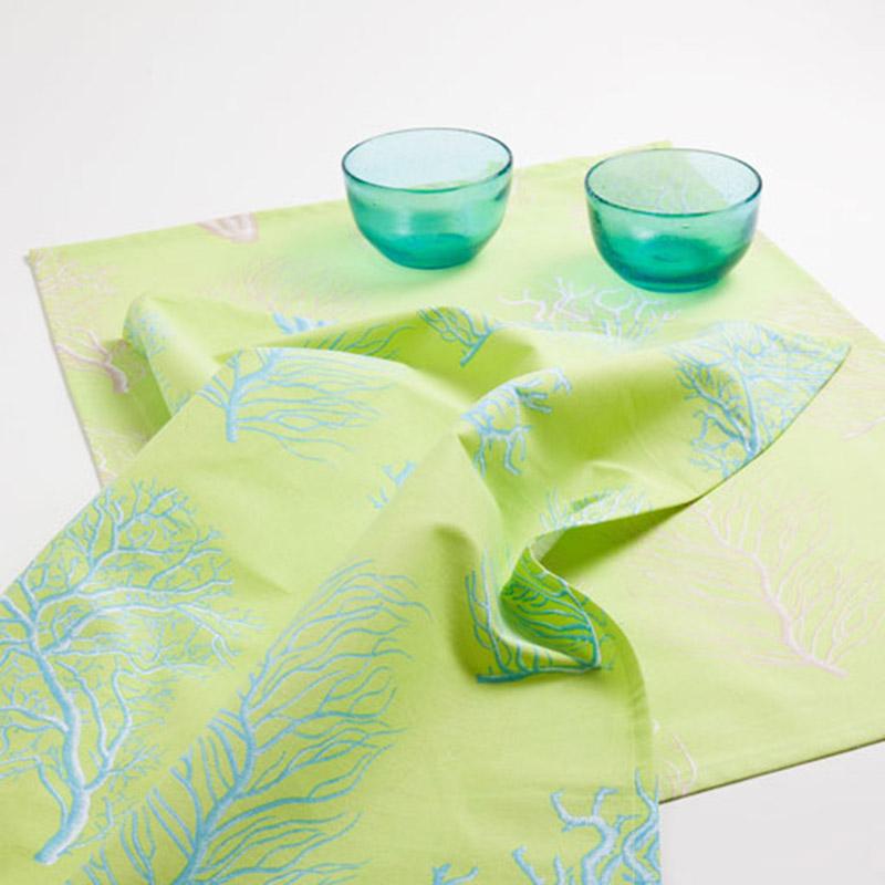 Zöld konyhai textília (Zara Home)