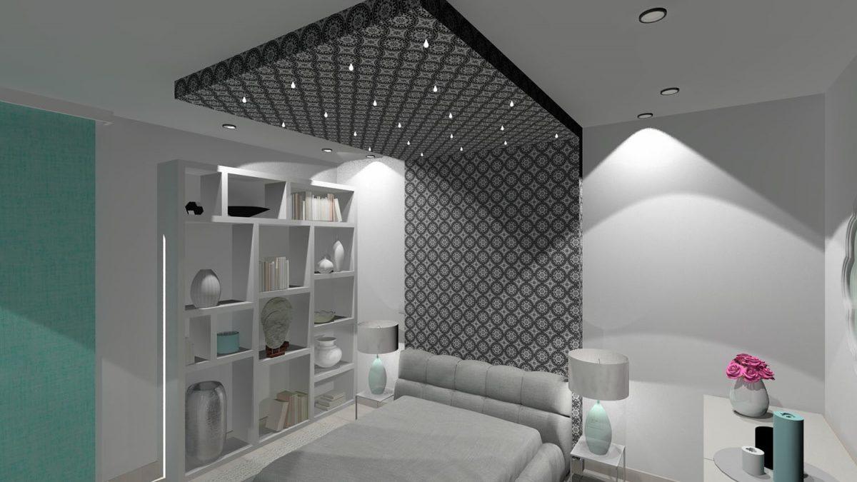 Ez pedig egy az én munkáim közül, egy modern hálószoba.