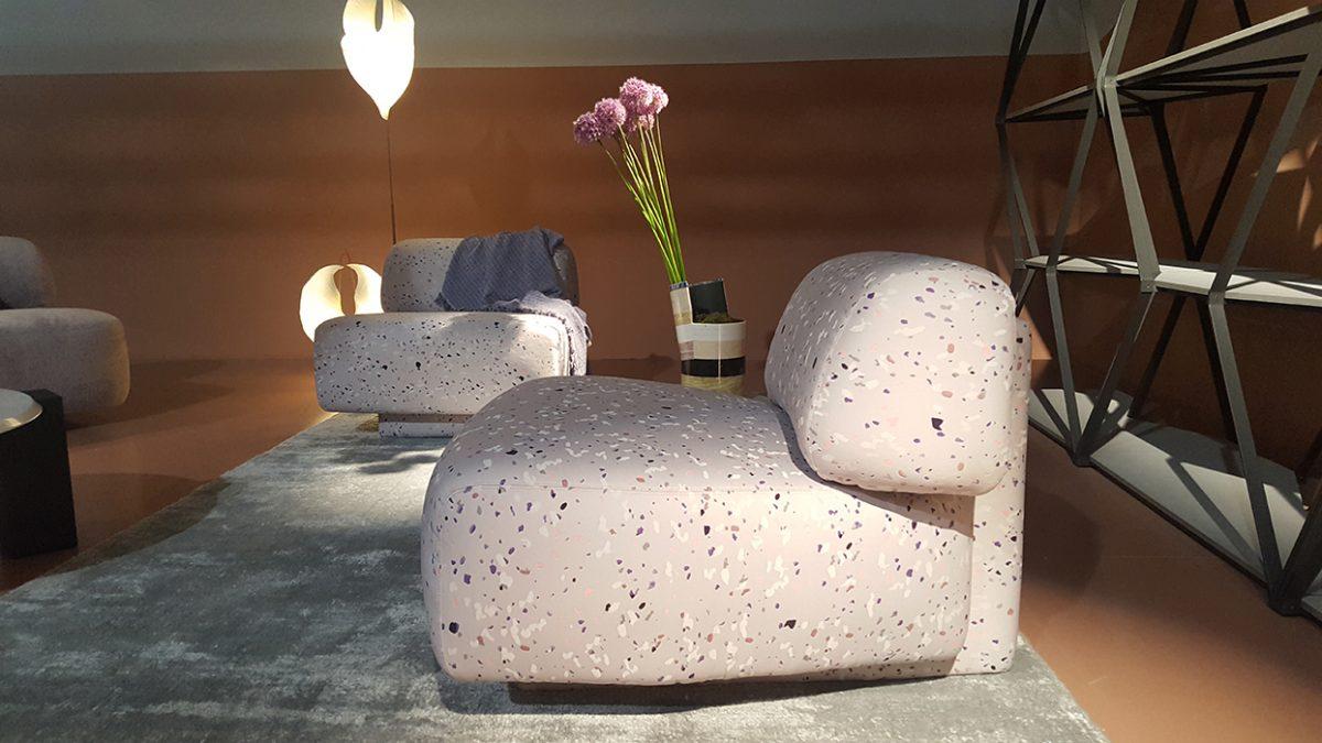 Moroso - terrazzo minta a foteleken is