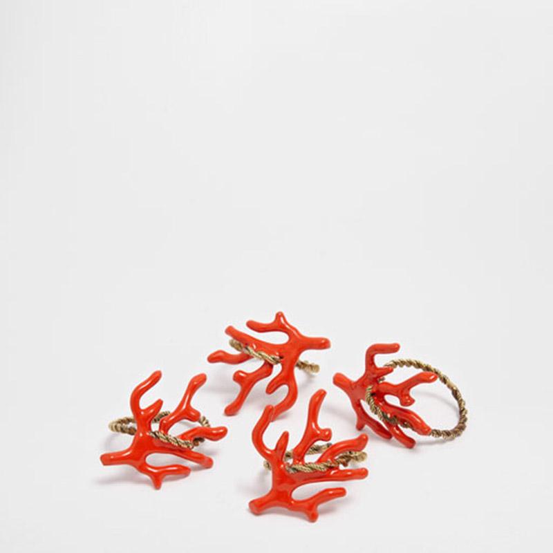 Korallos szalvétagyűrű (Zara Home)