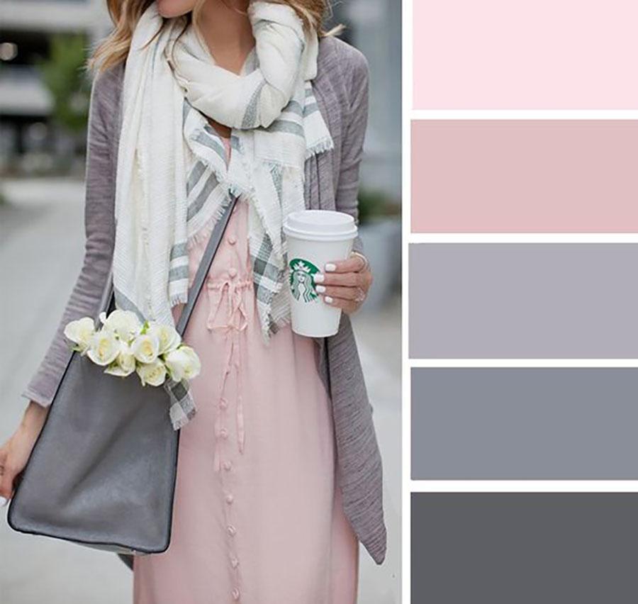 Rózsaszín szürke színskála